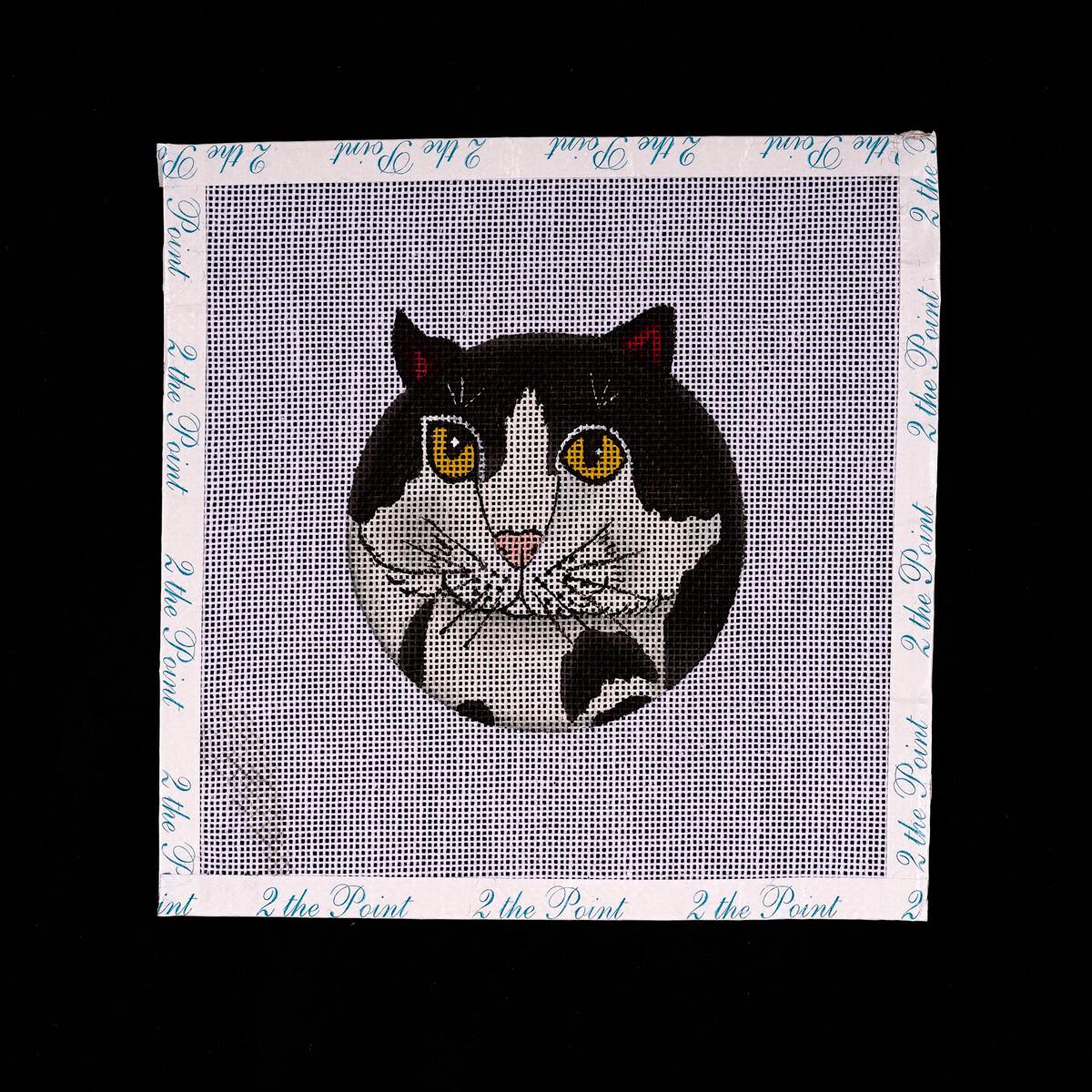 Unknown Designer, Black & White Kitty Ornament