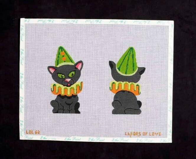 Labor of Love, 2-Sided Halloween/Clown Cat, LOL602