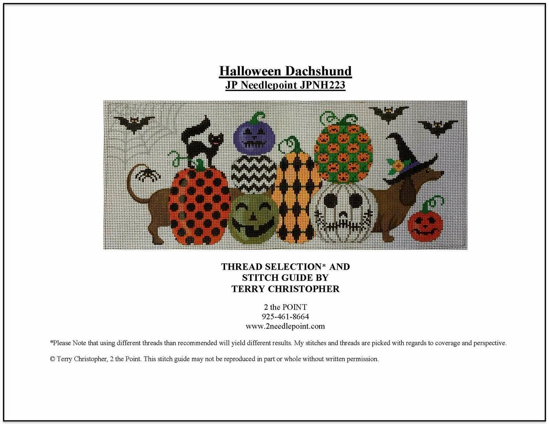 JP Needlepoint, Halloween Dachshund JPNH223