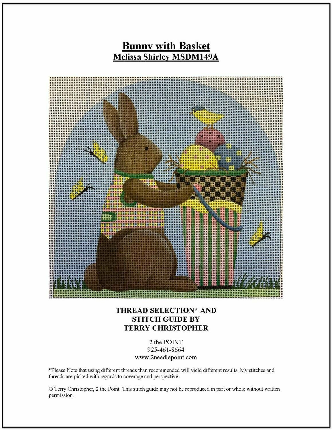 Melissa Shirley, Bunny with Basket MSDM149C