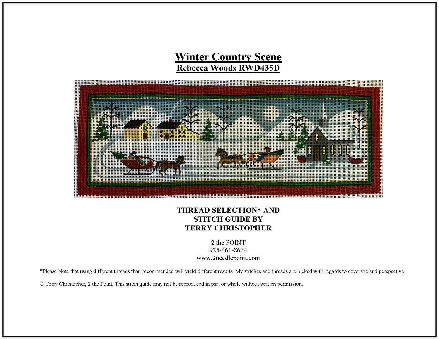 Rebecca Woods, Winter Country Scene RWD435D