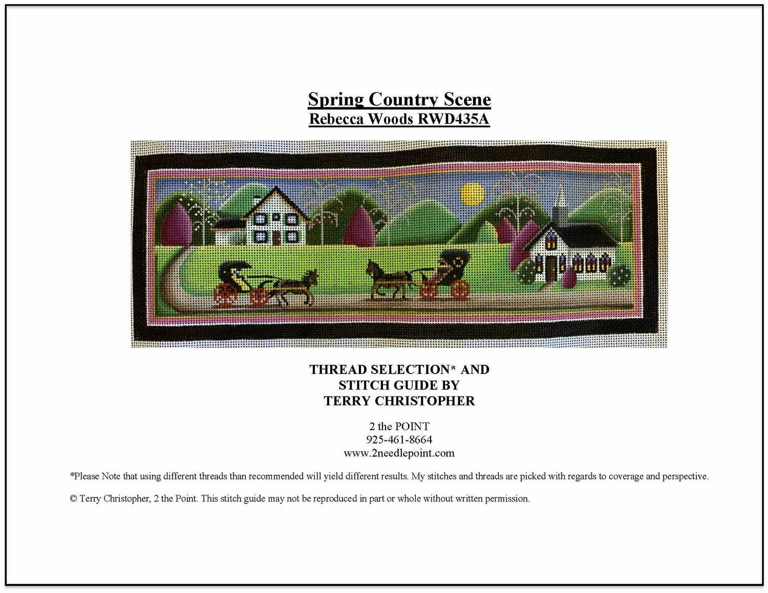 Rebecca Woods, Spring Country Scene RWD435A