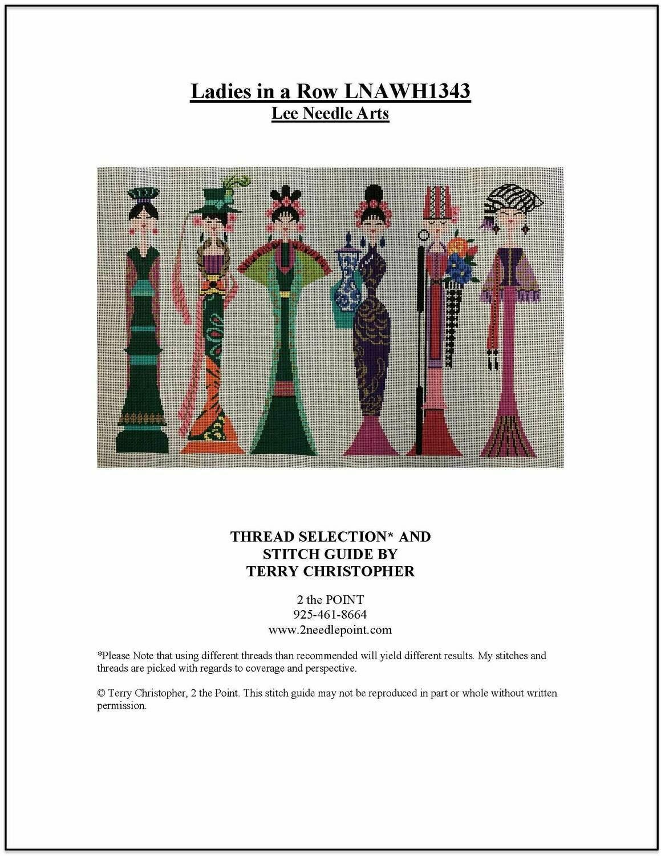 Lee Needle Art, Ladies in a Row, LNAWH1343