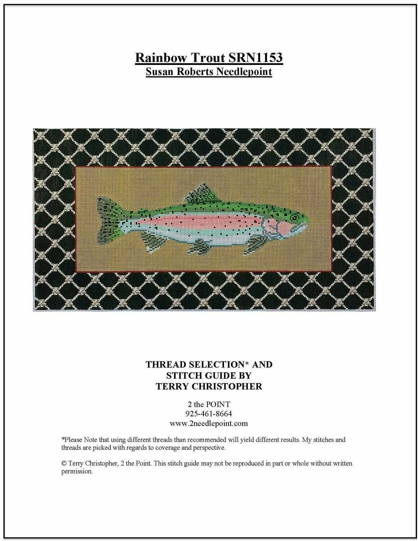 Susan Roberts Needlepoint, Rainbow Trout SRN1153