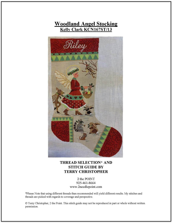 Kelly Clark, KCN167ST/13 Woodland Angel Stocking