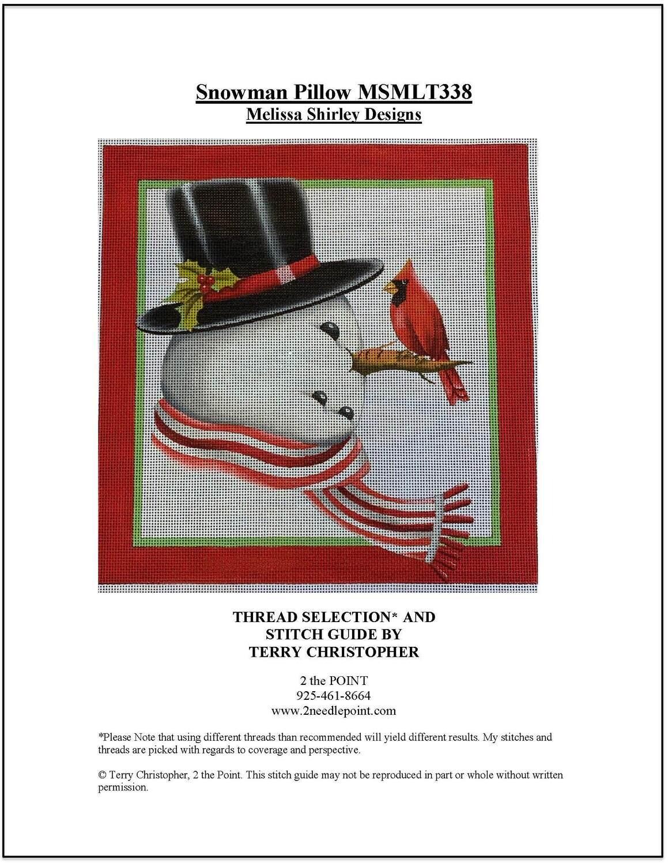 Melissa Shirley, Snowman with Cardinal MSMLT338