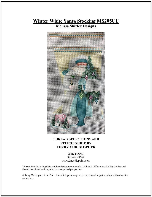 Melissa Shirley, Winter White Santa Stocking MS205UU
