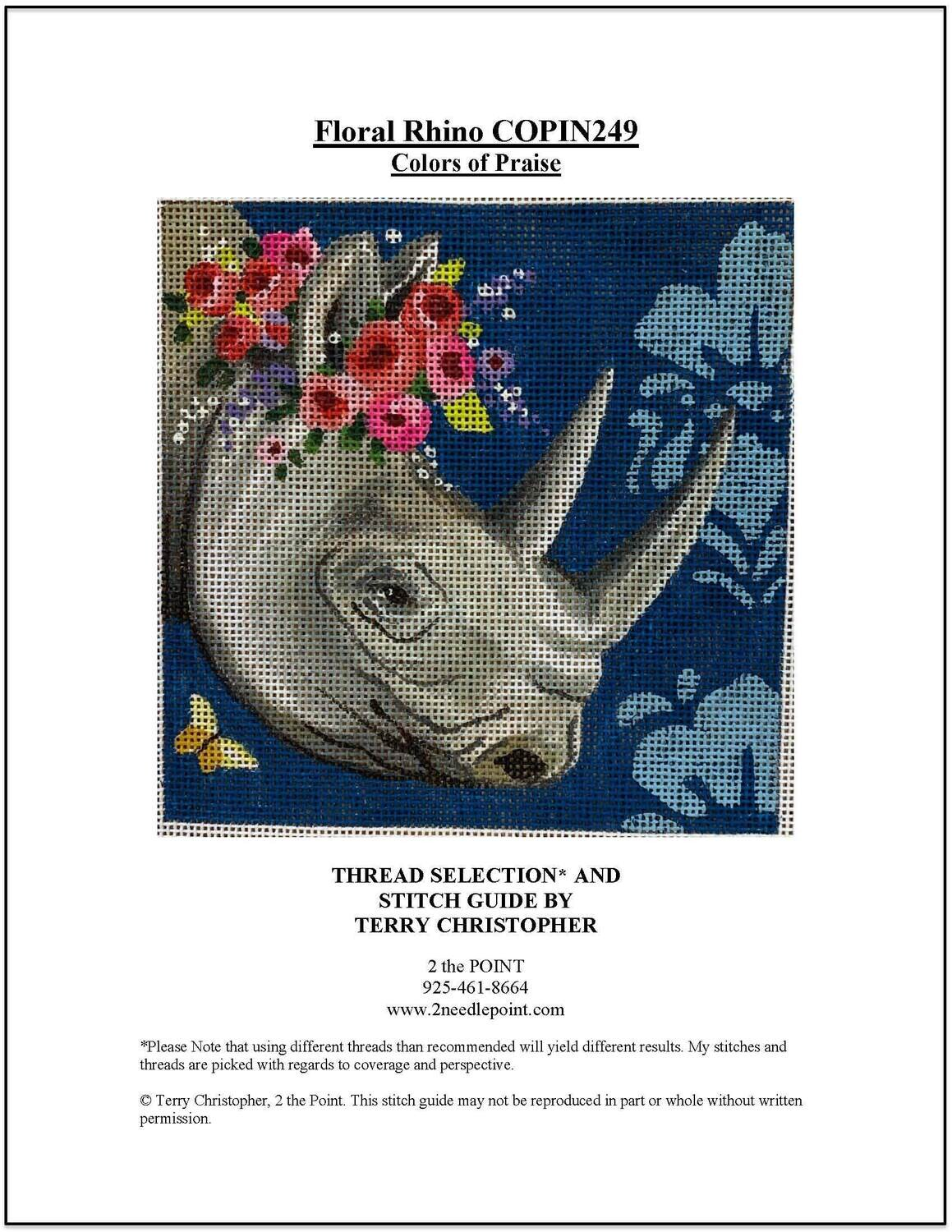 Colors of Praise, Floral Rhino COPIN249