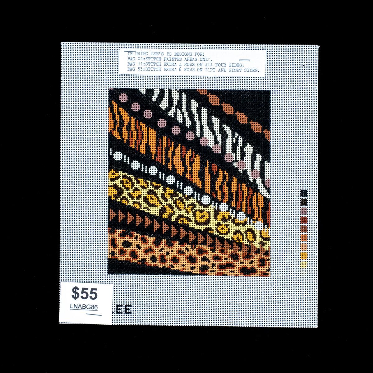 Lee's Needle Art's, Animal Print, LNABG86