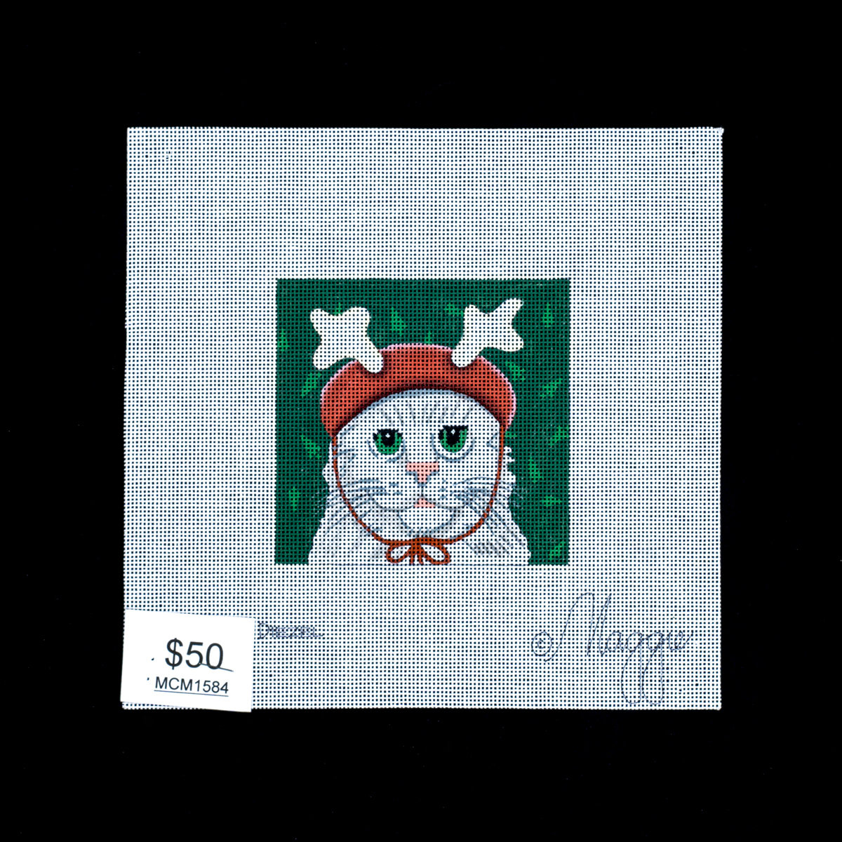 Maggie Co, Cat in Antler Cap, MCM1584