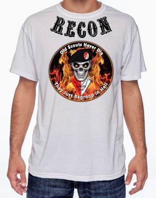 Recon Scouts Never Die Shirt FREE SHIPPING