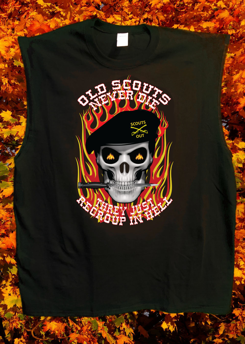 Old Scouts Never Die Black T-Shirt FREE SHIPPING