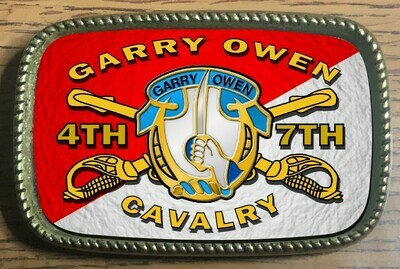 4TH / 7TH CAVALRY Rectangle Belt Buckle