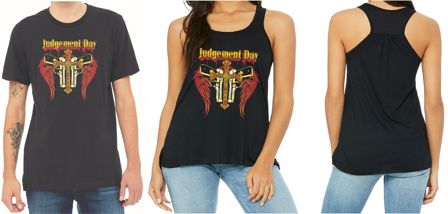 JUDGEMENT DAY UNISEX AND LADIES SHIRT FREE SHIPPING