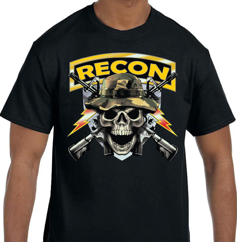 RECON AIRBORNE RANGE DEATH SHULL SHIRT