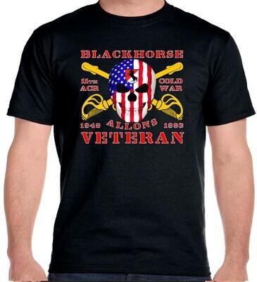 11th ACR COLD WAR BLACKHORSE BORDER T-SHIRT FREE SHIPPING