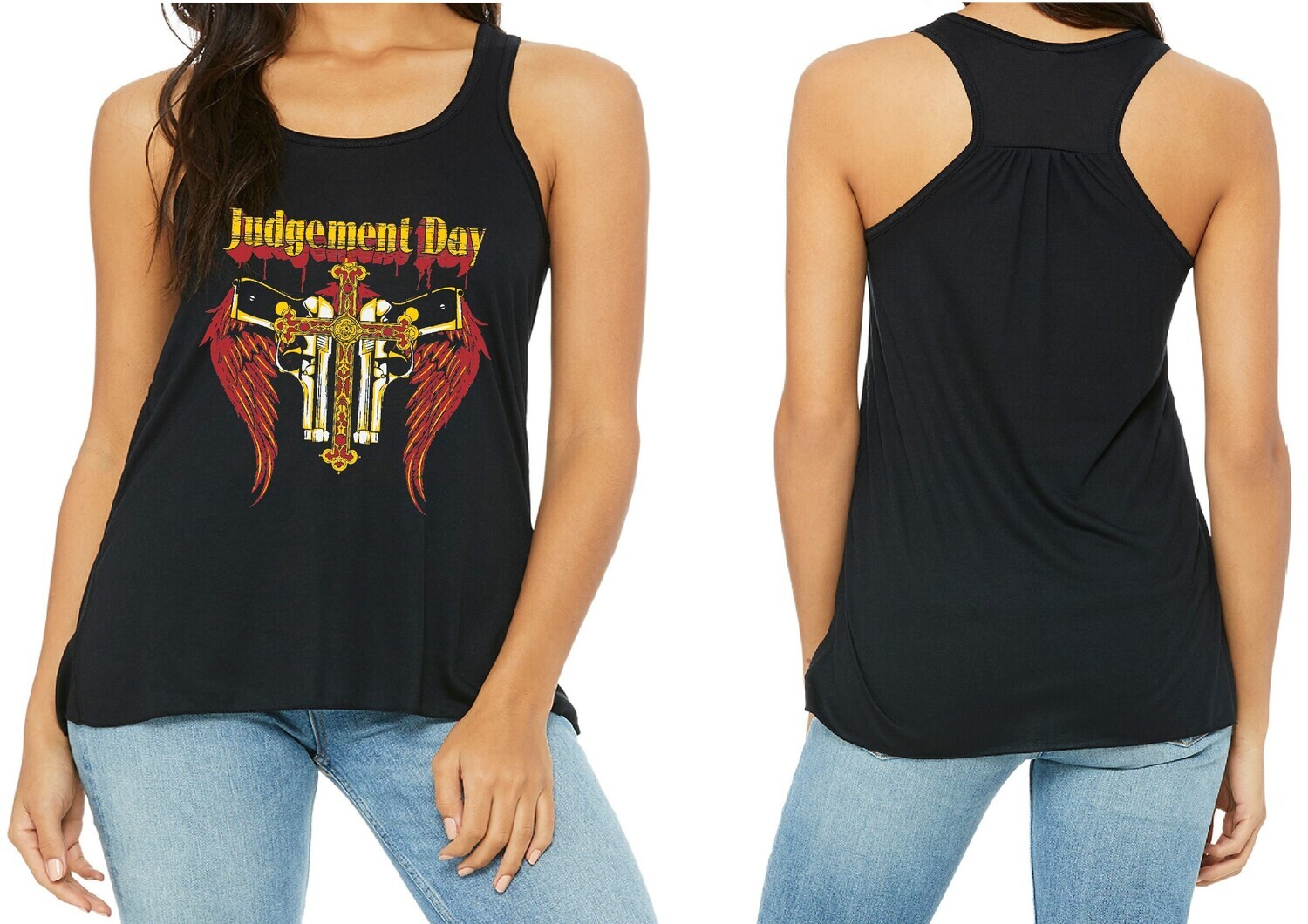 JUDGEMENT DAY LADIES RACER BACK FREE SHIPPING