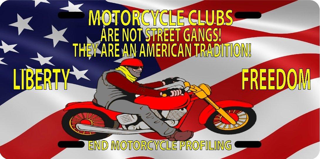 License Plate Not Street Gangs US Flag