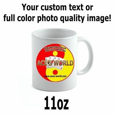 11oz or 15oz Ceramic Coffee Mug Custom Image FREE SHIPPING