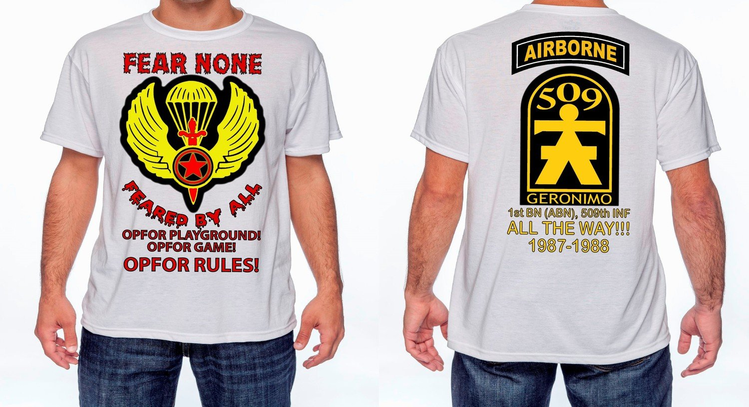 1/509th OPFOR Fear None T-Shirt FREE SHIPPING