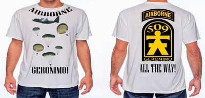 509th GERONIMO T-SHIRT FREE SHIPPING
