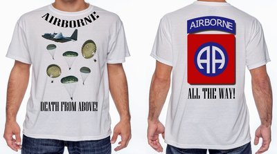 DEATH FROM ABOVE  T-SHIRT FREE SHIPPING