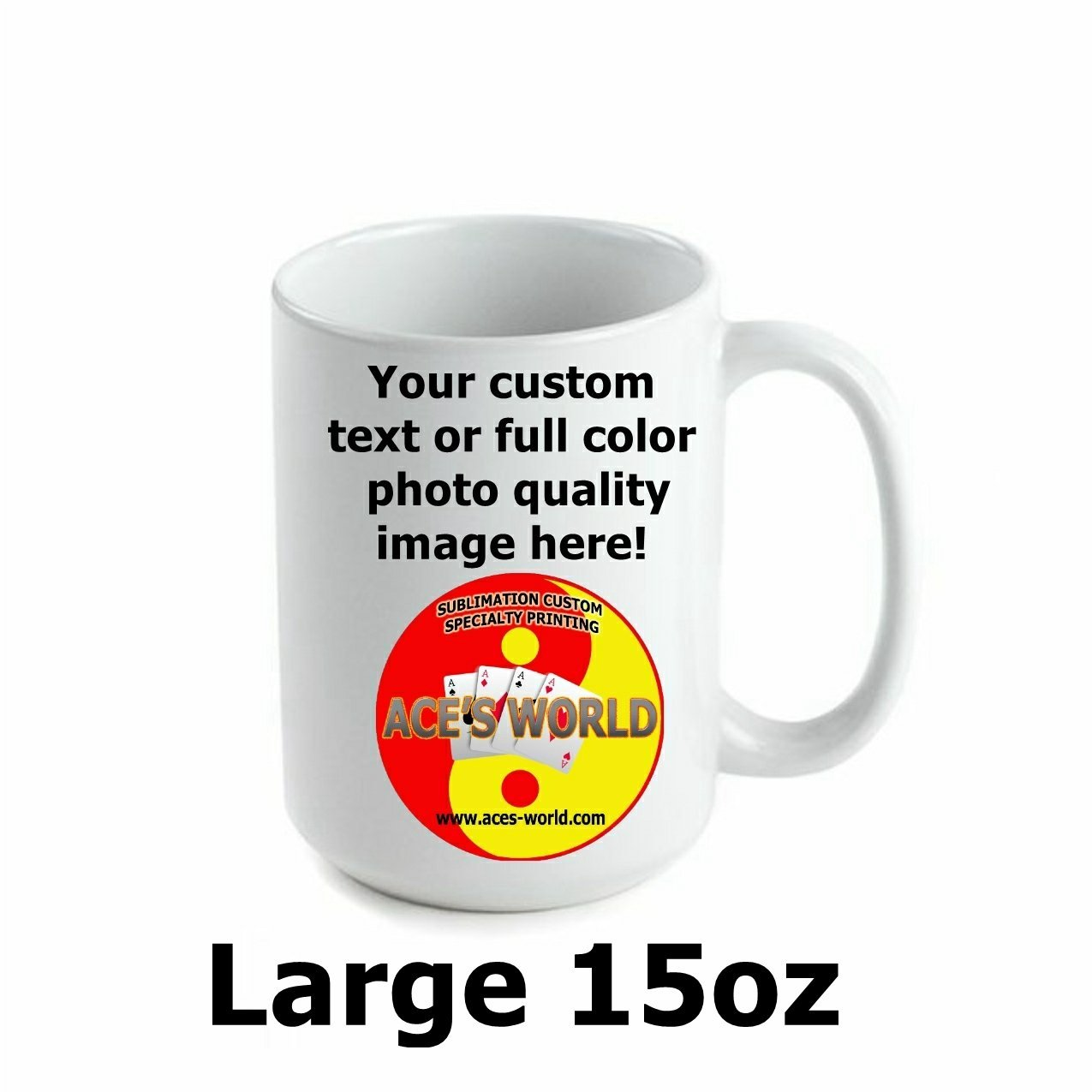 15oz Ceramic Coffee Mug Custom Image FREE SHIPPING