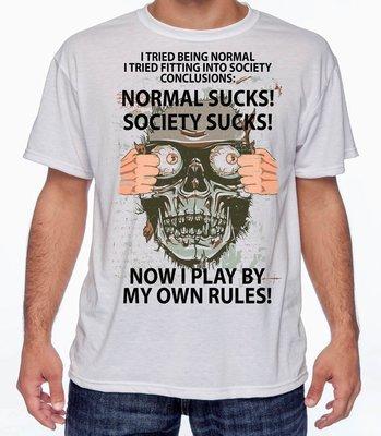 NORMAL SUCKS T-SHIRT FREE SHIPPING
