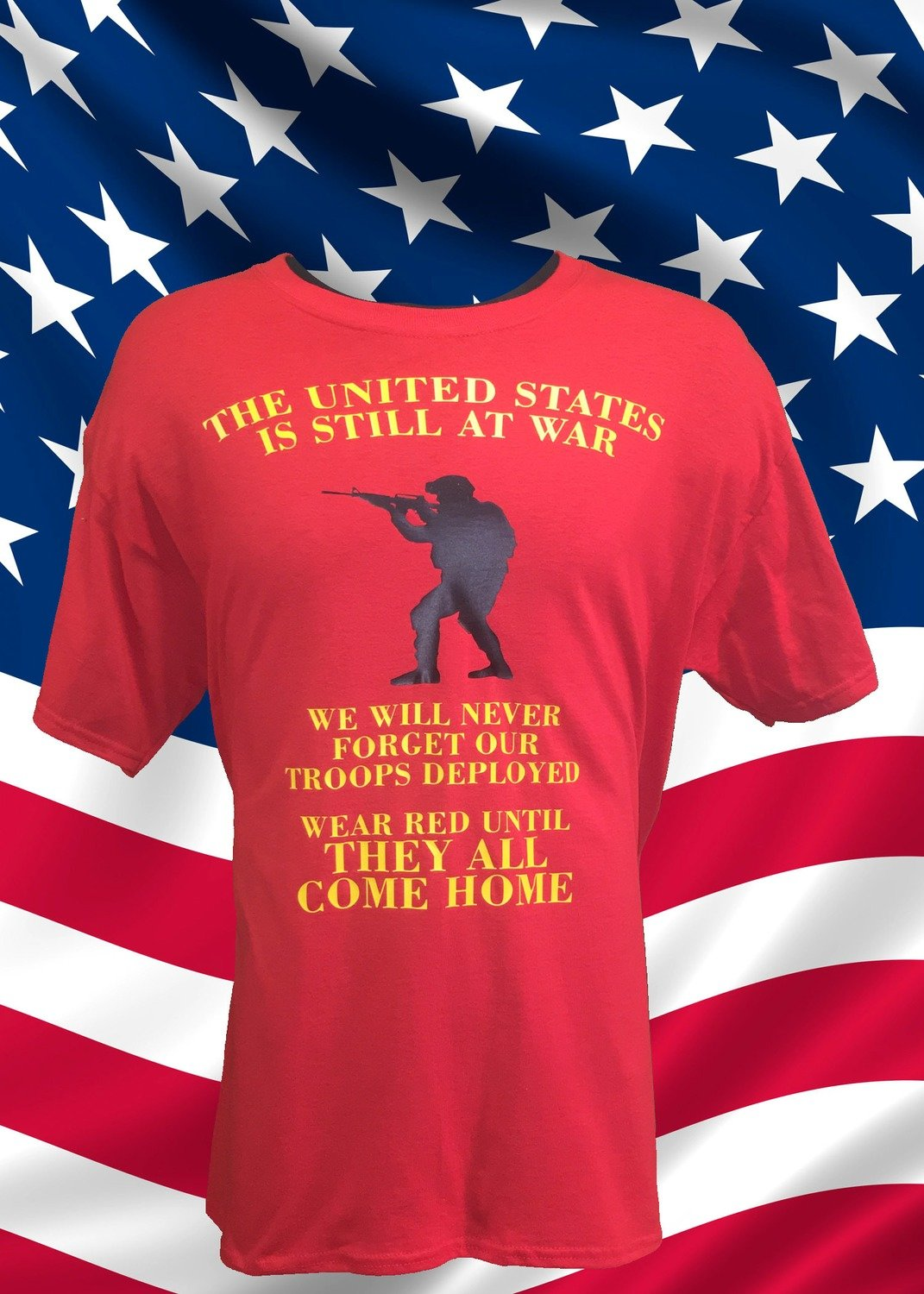 Wear Red For Our Military Until They All Come Home