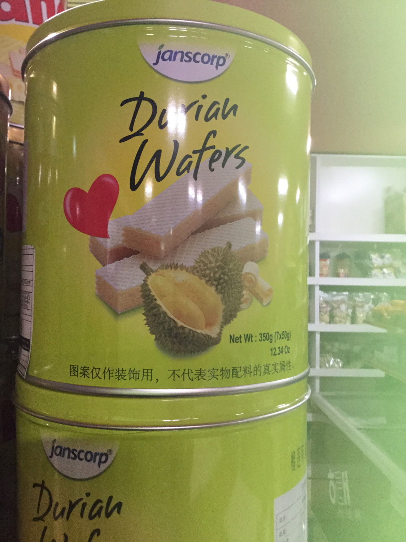Durian Wafers kaleng 350g