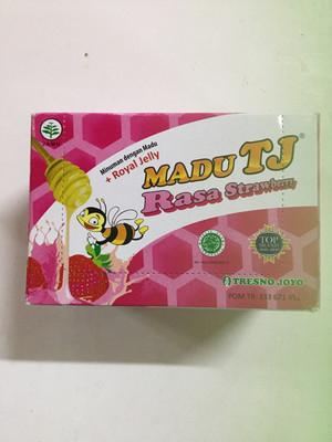 Madu TJ Rasa Strawberry 1 Kotak (12 Sachet @ 20g)