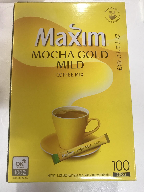 Kopi Korea Maxim Kuning Gold 100 stick (Mocha Gold Mild)