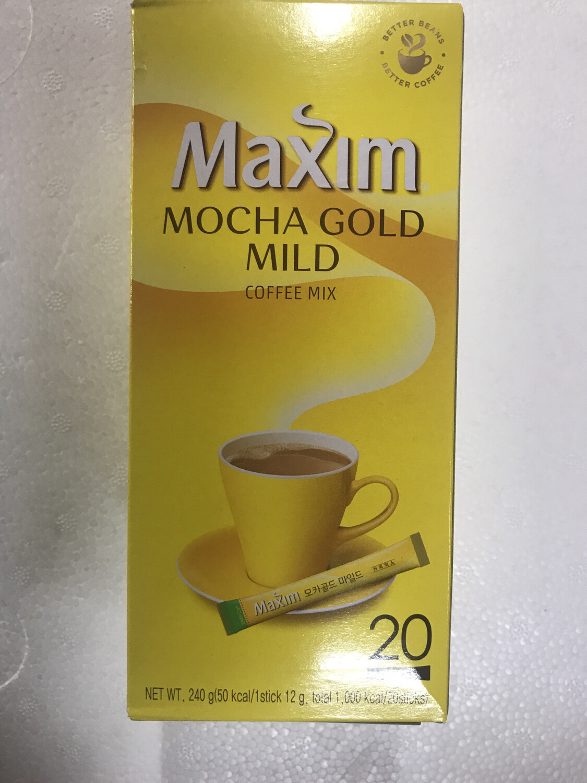 Kopi Maxim Kuning 20 Stik (Mocha Gold Mild)