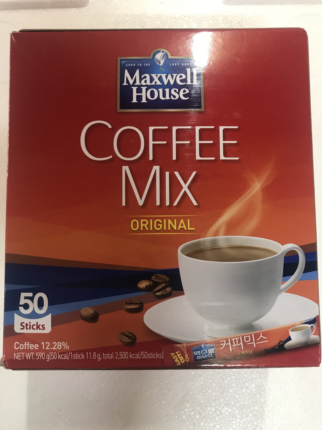 Kopi Korea Mix Merah Original 50 stick (Maxwell House)