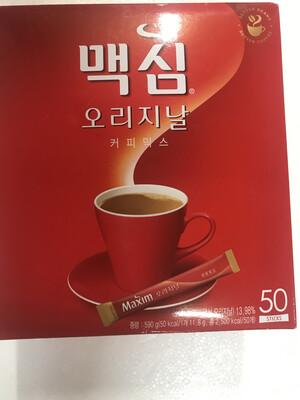 Kopi Korea 맥심 오리지널 Merah 50 Stick