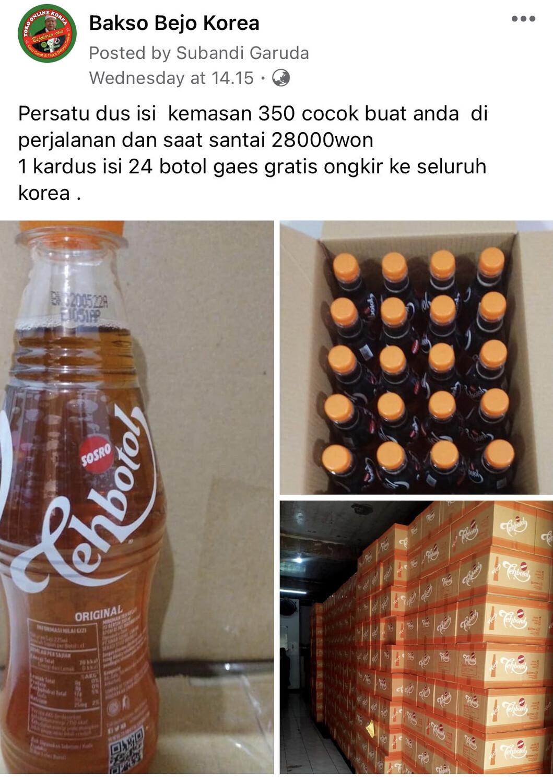 Promo Teh Botol 350 ml (per Kardus 24 Botol) Free Ongkir