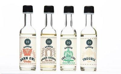 Hansen Distillery Mini Bottle 4-Pack