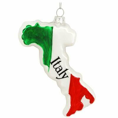Italian Boot Glass Ornament