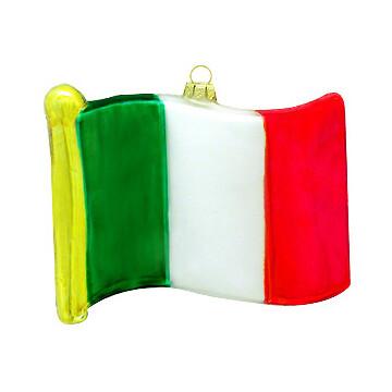 Italy Flag Glass Ornament