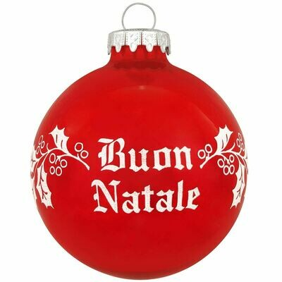 Buon Natale Glass Ornament
