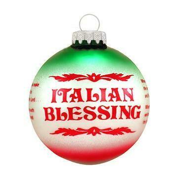 Italian Blessing Glass Ornament