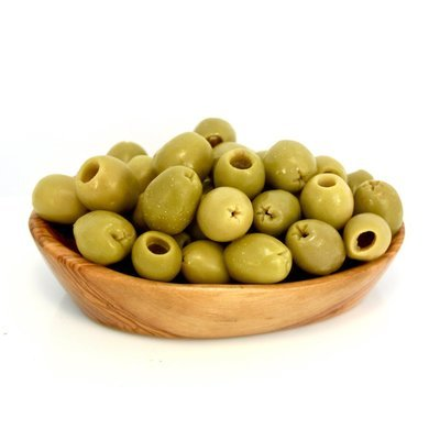 Pitted Green Sicilian Olives - 1/2Lb