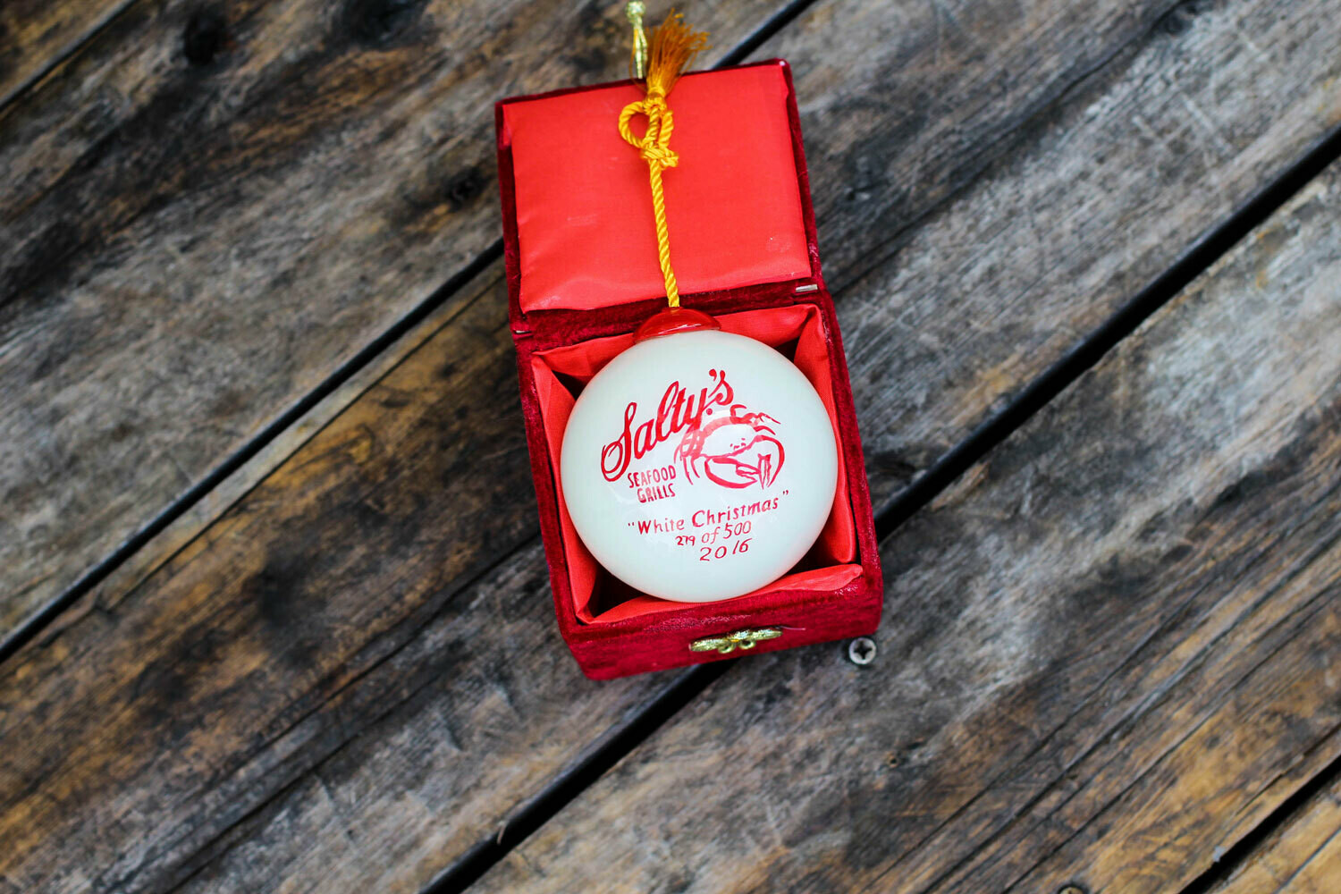 2016 White Christmas Ornament