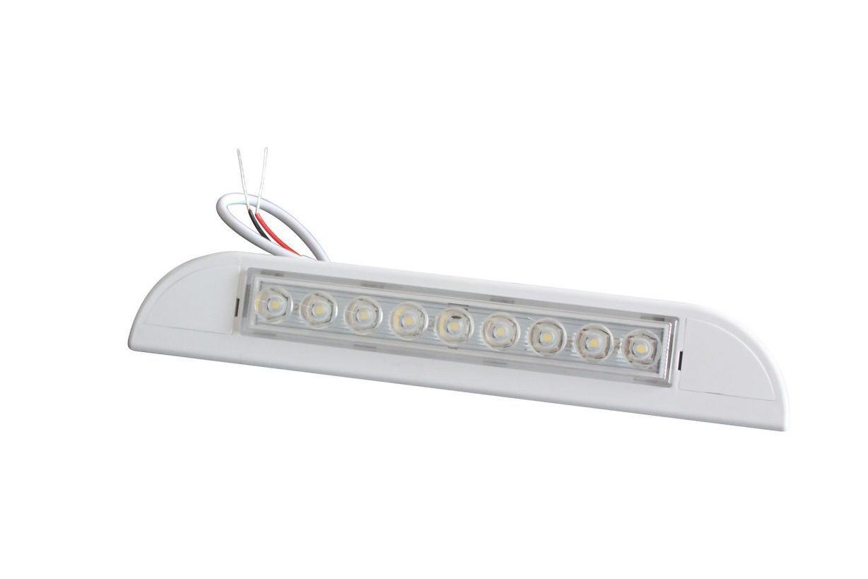 231mm white led exterior caravan awning light