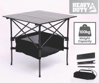 Black Portable Folding Compact Camping Picnic Table