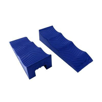 BLUE 3 stage caravan rv levelling ramps (pair)