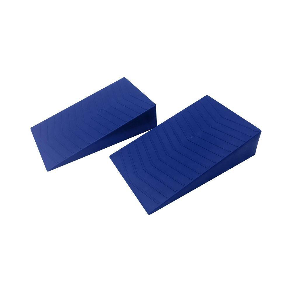 BLUE Wedge tandem caravan rv levelling ramps (pair)