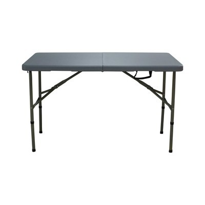 120cm Grey Portable Folding Compact Camping Table