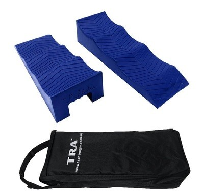 BLUE 3 stage caravan rv levelling ramps (pair) with carry bag