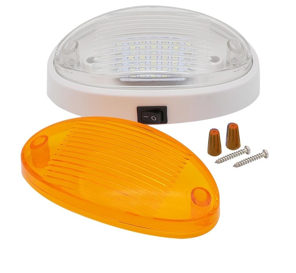 White 12v LED Caravan Light with Switch